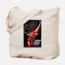 1946 Swiss Grand Prix Motorcycle Race Poster Tote