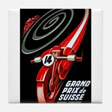 1946 Swiss Grand Prix Motorcycle Race Poster Tile