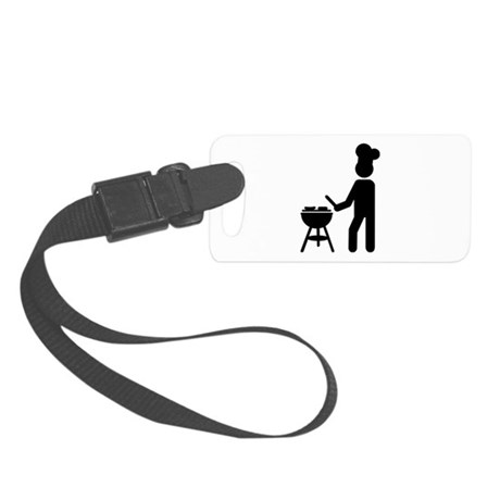 BBQ barbecue Cook chef Small Luggage Tag