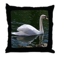 Mute Swan Summer Throw Pillow