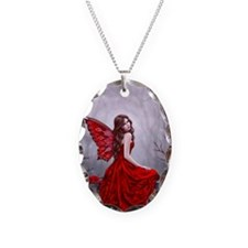 Winter Rose Butterfly Fairy Necklace