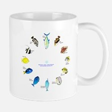 Pacific and Indian Ocean Reef Fish Clock 2 Mugs