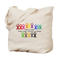 Find a Cure, Save a life Tote Bag