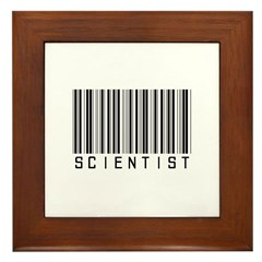 Barcode Science Geek Framed Tile