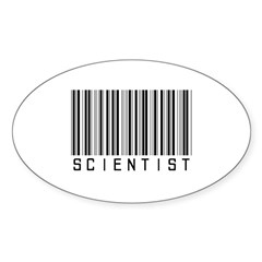 Barcode Science Geek Oval Decal