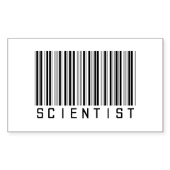 Barcode Science Geek Rectangle Decal