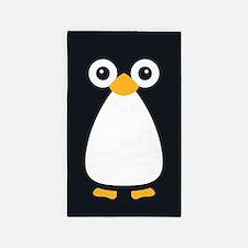 Cute Vector Penguin 3'X5' Area Rug