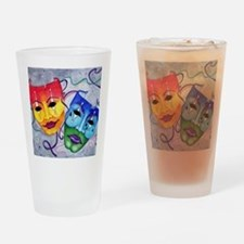 Comedy and Tragedy  Drinking Glass