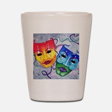 Comedy and Tragedy  Shot Glass