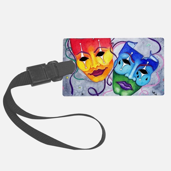 Comedy and Tragedy  Luggage Tag