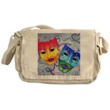 Comedy and Tragedy  Messenger Bag