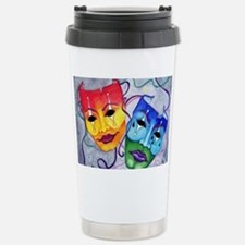 Comedy and Tragedy  Stainless Steel Travel Mug
