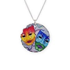 Comedy and Tragedy  Necklace