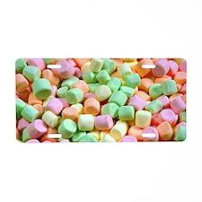 Colorful miniature marshmal Aluminum License Plate