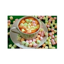 Hot cocoa with marshmallows Rectangle Magnet