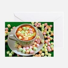 Hot cocoa with marshmallows Greeting Card