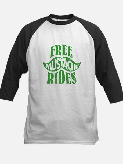 Free mustache rides Kids Baseball Jersey