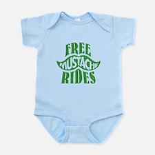 Free mustache rides Infant Bodysuit
