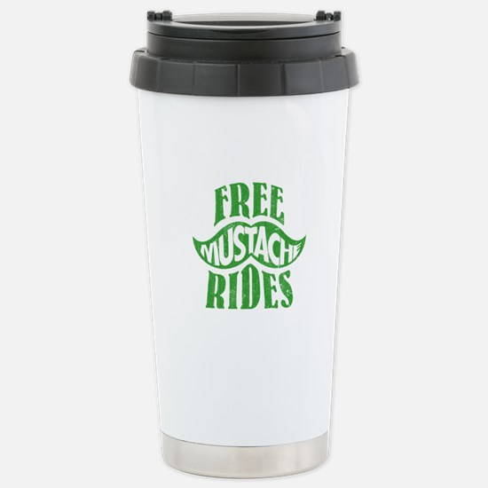 Free mustache rides Stainless Steel Travel Mug