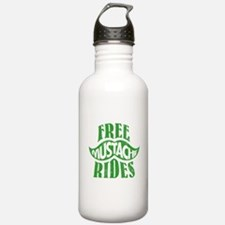 Free mustache rides Water Bottle