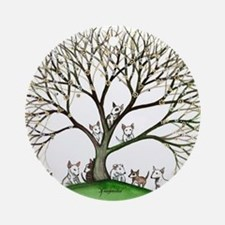 Bull Terriers Round Ornament