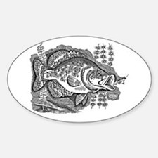 Crappie Oval Decal