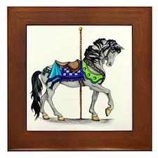 The Carousel Horse Framed Tile