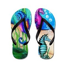 Three Water Horses Flip Flops