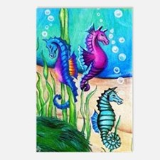Three Water Horses Postcards (Package of 8)