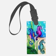 Three Water Horses Luggage Tag