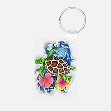 Tropical Sea Turtle Keychains