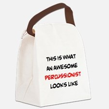 awesome percussionist Canvas Lunch Bag