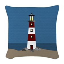 Lighthouse Woven Throw Pillow