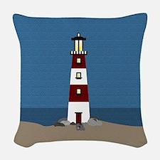 Lighthouse Woven Throw Pillow