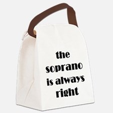 Cute Opera lover Canvas Lunch Bag