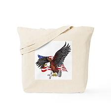 USA Eagle with Cross Tote Bag
