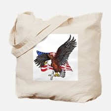 USA Eagle with Cross Tote Bag