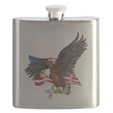 USA Eagle with Cross Flask