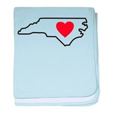 I LOVE North Carolina baby blanket