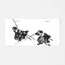 Samurai Aluminum License Plate