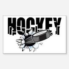 Hockey Sticker (Rectangle)