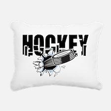 Hockey Rectangular Canvas Pillow