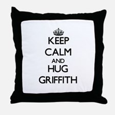 Keep calm and Hug Griffith Throw Pillow