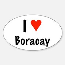 I love Boracay Oval Decal