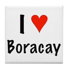 I love Boracay Tile Coaster