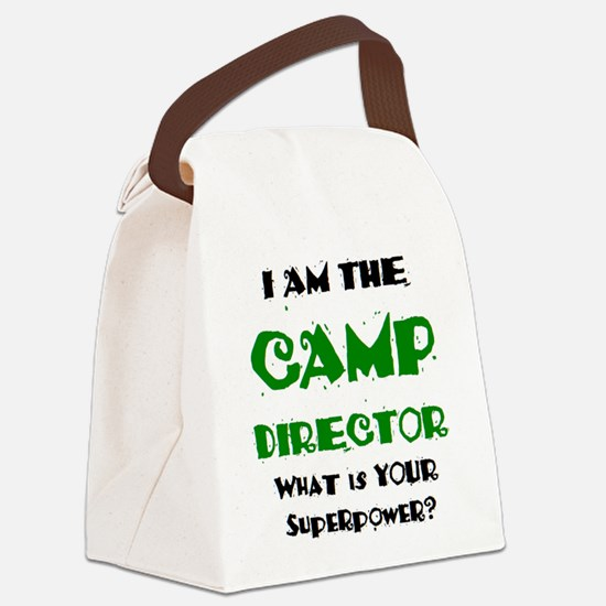 camp director Canvas Lunch Bag