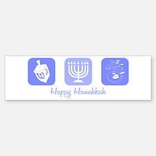 Happy Hanukkah Bumper Bumper Bumper Sticker