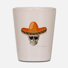 Sombrero Skull Shot Glass