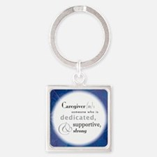 Caregiver Square Keychain