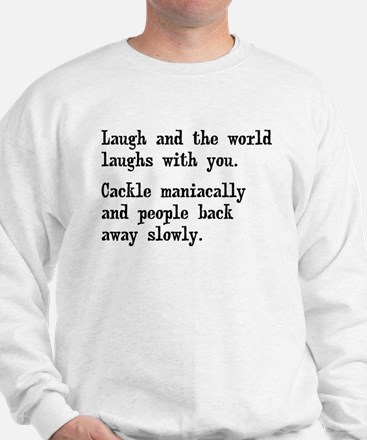 Laugh, Cackle Maniacally Funny Sweater